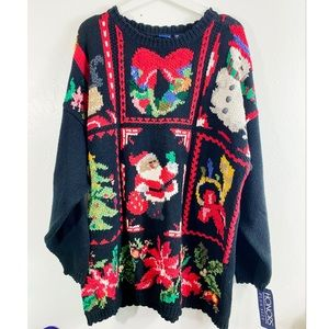 NWT Vintage Honors Hand Knit Christmas Sweater 3X